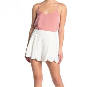 Elodie Fully Lined Pleated Scalloped Shorts